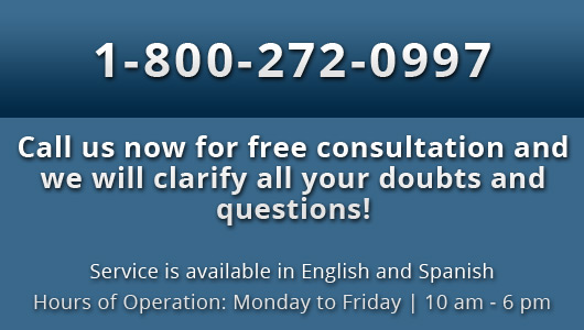 Call us now for free consultation and we will clarify all your doubts and questions!, Service is available in English and Spanish Hours of Operation: Monday to Friday | 10 am - 6 pm